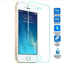 EDWO Super Saver 0.3mm Tempered Glass For Apple iPhone 4S 5S SE 2.5D Edge Screen Protector Explosion Protect 9H Hard Film On 5SE