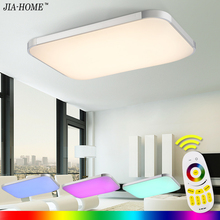 LED Ceiling Lights Lamp Luminaria Ceiling Light With Remote Control Dimmable Color And RGB Changing Fixtures Lustre Plafonnier(China)