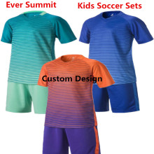 Kids Soccer Jerseys Ever Summit S1613 Boys Football Training Sets Create Football Team Uniforms 100%polyester DIY Customize nino(China)