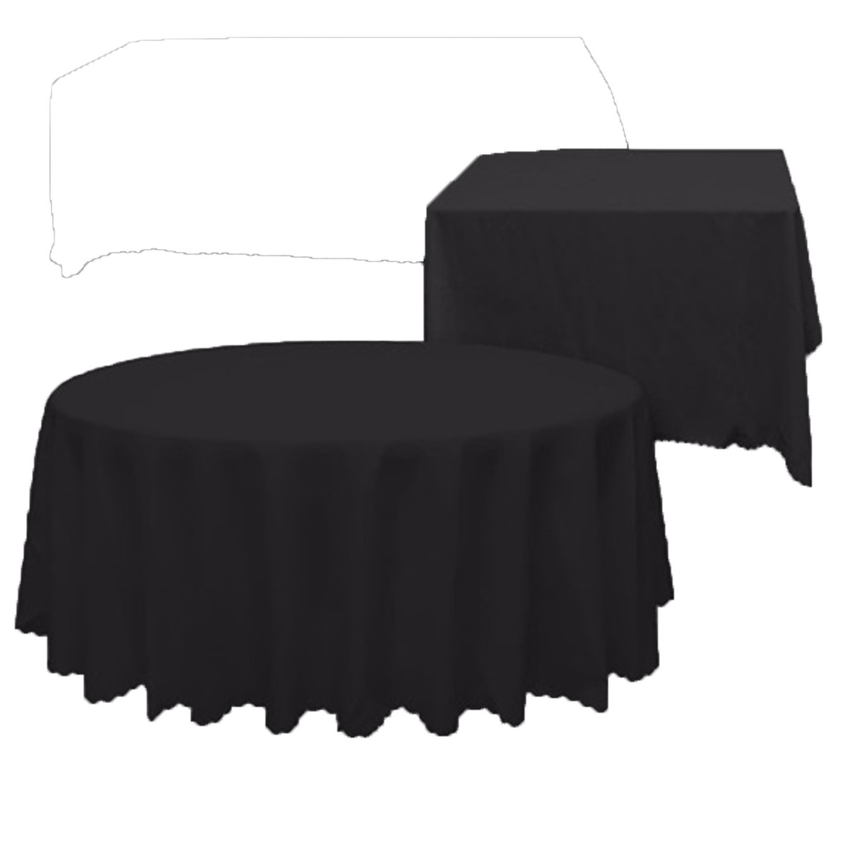 Square/Round PE Tablecloth Waterproof Table Cover White Black Cloth Banquet Wedding Party Events Table Decorative Accessories(China (Mainland))