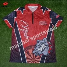 sublimation customized polo t shirt 100%polyester free shipping(China)
