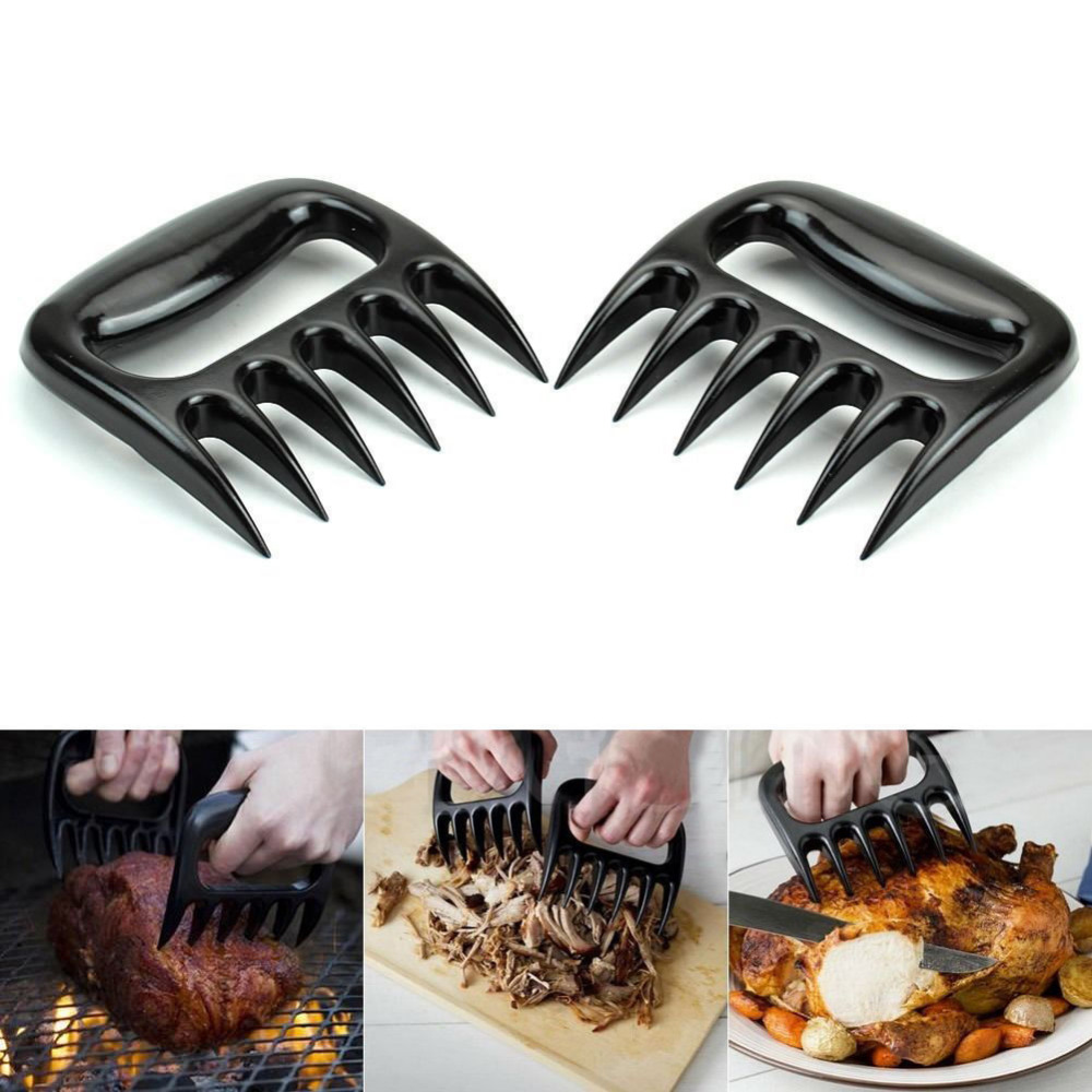 1Pair-Black-Grizzly-Bear-Paws-Claws-Meat-Handler-Fork-Tongs-Lift-Shred-Pork-BBQ-Barbecue-Tool