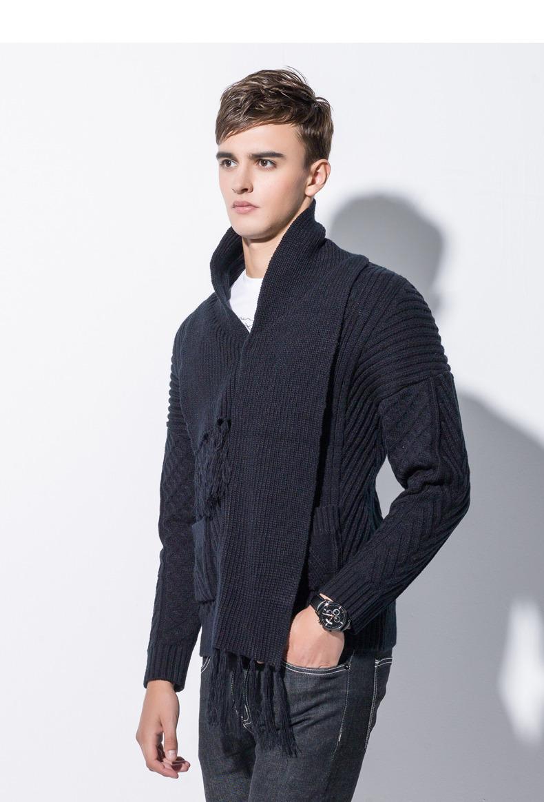 Winter Men Cardigan Coat Thicken Loose Fit Warm Turtleneck Sweater Men Autumn Knited Male Sweatercoat Black Brand Muls M-4XL-04