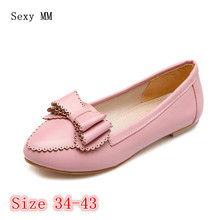 Shoes Woman Slip On Shoes Loafers Girl Ballet Flats Women Flat Shoes Soft Comfortable Plus Size 34 - 40 41 42 43(China)