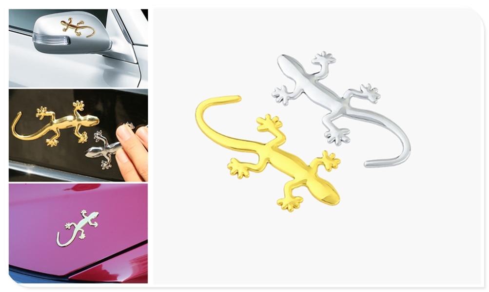 3D badge sticker car decoration applique lizard gecko funny personality for Mercedes Benz ML500 ML350 GL450 B200 B150 CLK63 R