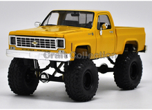 * 1:24 Chevy Chevrolet Silverado (Yellow) K10 4X4 Pickup So Real Concepts Diecast Model Truck