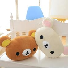 1pc 50*30cm Cartoon Rilakkuma Bear Plush Pillow Large Stuffed Sofa Cushion Easy Bear Relax Bear Pillow Children Gift