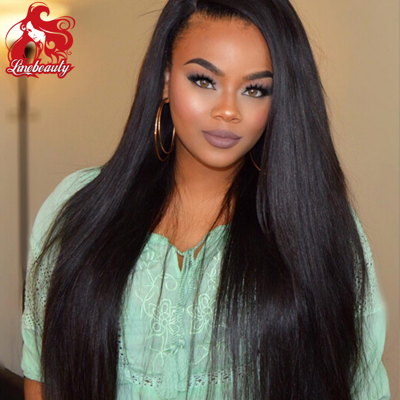 Custom Ombre Silky Straight Synthetic Lace Front Wig Glueless Two Tone Black Heat Resistant Hair Wigs For Women<br><br>Aliexpress