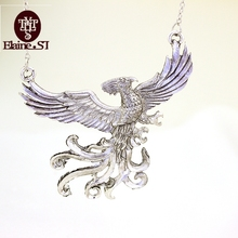 Free Shipping For 1 Pcs Aliexpress Hot Sale Personality H P Phoenix Pendant Necklace Europe America Bird Women Necklace