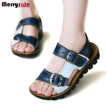 The child's summer new baby shoes leather sandals children sandals leather sandals