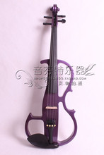 Quality electro-acoustic violin electronic violin purple wood ebons 8(China)