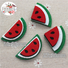 3CM 20pcs Non-woven patches watermelon two-double Felt Appliques for clothes Sewing Supplies diy craft ornament