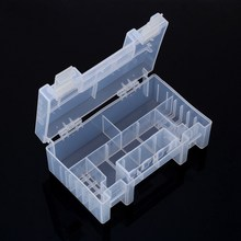 Clear Plastic Battery Storage Box Healthy Case Storage Box Holder Container For AA AAA C Batteries Holder Storage Box(China)