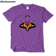 EVA UNIT 01 T shirt Men Evangelion Unit Anime Shirt Printed Cotton Short Sleeve Tee Shirt Homme O-neck 2XL Casual Fits 3D Shirt