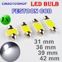 Flytop 31mm 36mm 39mm 42mm COB FESTOON Car Bulb 12 Chips C5W 12V White Color LED Bulb Dome Light(China)