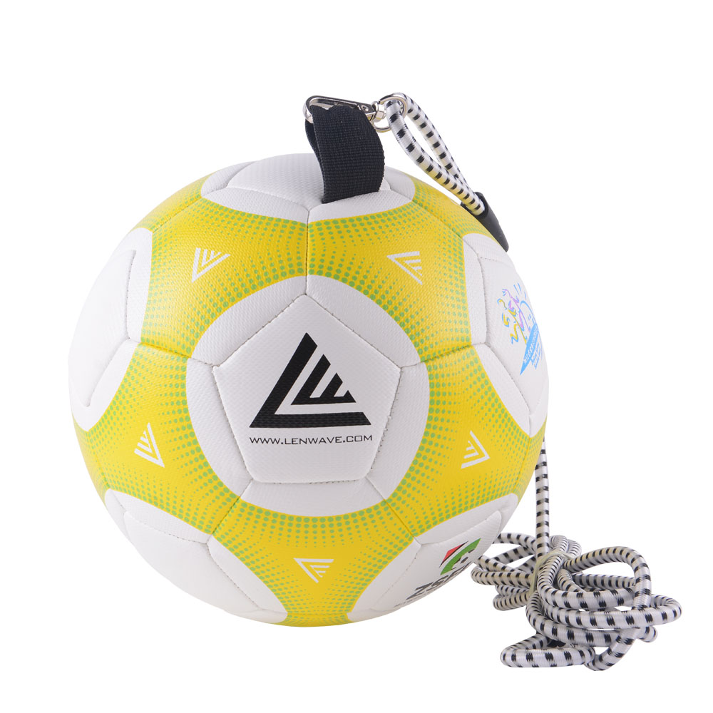 Football Ball Size 4 PU Soccer Ball 5 With Rope Training Exercise Football Ball Leather Soccer Ball Brands New 2017 For Beginner(China)