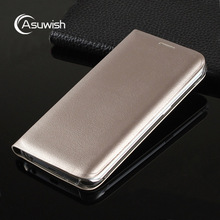 Asuwish Flip Cover Wallet Leather Case For Samsung Galaxy S6 Edge G925 G925F G925H S6 G920 Phone Case Card Slim Shell Phone Bag