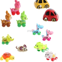 2017 Cute Cartoon Animals Clockwork Wind Up Toys Running Plastic Kids Children Gift MAY20_40(China)