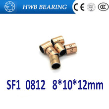 Buy 20Pcs SF1 SF-1 0812 Self Lubricating Composite Bearing Bushing Sleeve 8 x 10 x 12mm Free shipping High Quality
