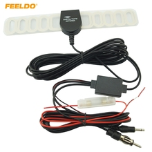 FEELDO Car 2IN1 TV/FM TV Antenna Radio Antenna With Amplifier Booster #FD-892(China)