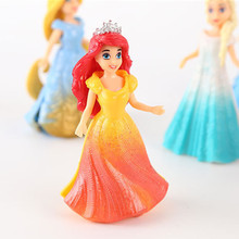Long hair Cinderella Snow White 8 dress up doll  ornaments doll gif Hand doll Europe and the United States pvcdoll