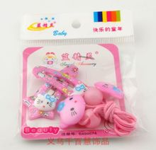 T138 Wholesale New Cute Baby Kid Children Girl Hairbands Circle Kitty Design Hairpin(China)