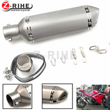 for 51 mm Carbon Fiber Refit Exhaust Muffler Pipe Small Hexagon Style for Motorcycles ATV Universal for HONDA CBR954RR CBR 954(China)