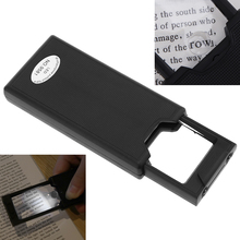 Mini Pull Type Magnifier 2.5X 45X Acrylic Lenses Pullout Jeweler Eye Loupe with 2 LED Lights and UV Light(China)