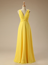 Yellow Bridesmaid Dresses Long Chiffon Ruffle Wedding Guest Gown Robe De Demoiselles D Honneur Pour Mariage African Bridesmaids