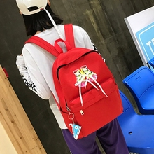 Casual Women Harajuku Backpack Shoes Sequined School Bag Funny Girls Youth College Back Packs Female Travelling Bag Sirt Cantasi(China)