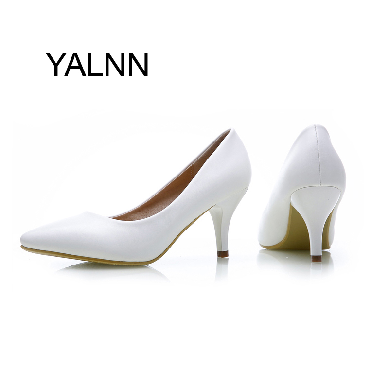 Fashion New High Heels Pumps Black Women Shoes Pump Girls Leather 7cm Thick Heel Black Shoes for Office Lady<br><br>Aliexpress