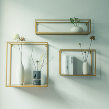 collalily Nordic Wall Magazine Storage Holders Racks bookshelf wood metal Modern Design Hanger for corridor Rails bookrack