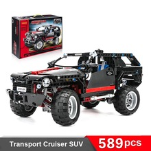 589pcs King Steerer Transport Cruiser SUV Technic Truck Racing Car 3D Model Building Block Toys 3341 Big Size