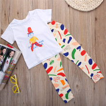 2016 New Baby Clothing 100% Cotton 2pcs Newborn Toddler Infant Kids Baby Boy Clothes T-shirt Tops+Pants Outfits Set(China)