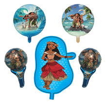 5pcs/lot cartoon Moana foil balloons birthday party decorations kids air balloon Children's inflatable toys Moana party supplies
