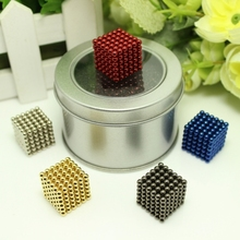 Christmas Gift 216pcs 3mm Neo Magnetic Magic Cube Magcube Balls Spheres Blocks For Kids - with metal box(China)