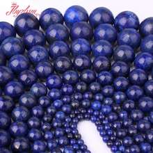 "3.4.6.8.10.12.14.16mm Round Blue Lapis Lazuli Spacer Beads Strand 15""For DIY Necklace Bracelet Jewelry Making Free Shipping(China)"