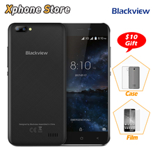 Blackview A7 Android 7.0 MTK6580A Quad Core RAM 1GB ROM 8GB 3G WCDMA Smartphone 5.0'' inch HD Screen AGC Glass Dual SIM Phone