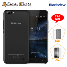 Blackview A7 Android 7.0 MTK6580A Quad Core RAM 1GB ROM 8GB 3G WCDMA Smartphone 5.0'' inch HD Screen AGC Glass Dual SIM Phone(China)