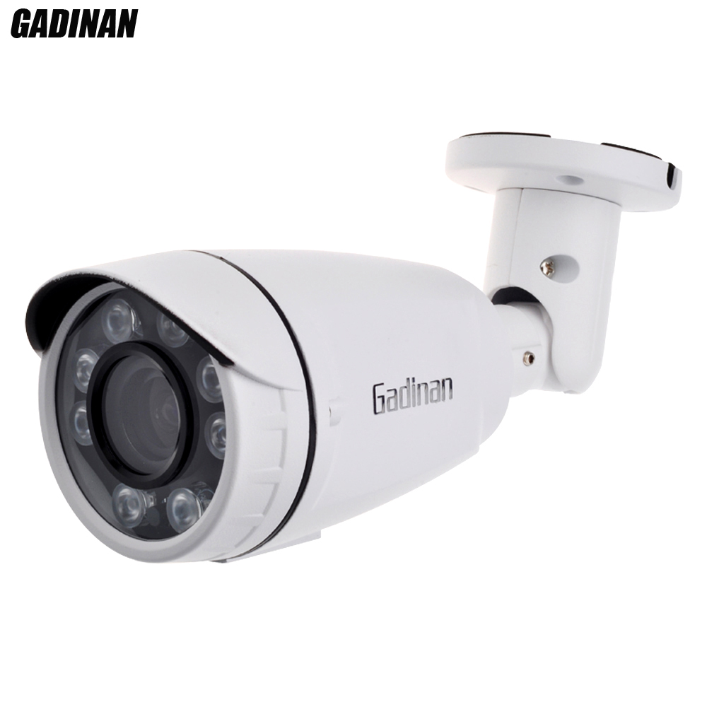 GADINAN AHD 1080P 2.MP IP66 Security Camera Manual Varifocal Zoom Lens 2.8-12mm IR-CUT Night Vision Strong Wall-mounted Bracket<br>