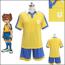 Free Shipping Anime Inazuma Eleven Go Cosplay Sport Wear Cloth High School Football Uniform Jersey Cosplay Costume Men(China)