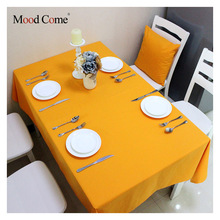 Solid color cotton rectangular table cloth european solid tablecloth for party weddings hotel kitchen table cover high quality