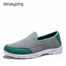 New Women's Casual Shoes Air Mesh Woman Loafers Slip-On Female Shoe Light Comfortable Mother Footwear Soft Ladies Driving Shoes(China)