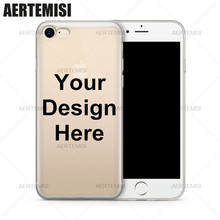 Aertemisi Phone Cases DIY Personalized Custom Design Your Own Case Cover for iPhone 4 4s 5 5s 5c SE 6 6s 7 8 Plus X(China)