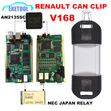 Renault Can Clip Diagnostic Interface Newest V168 Full Chip Full System CYPRESS AN2135SC Best A Quality Gold PCB AN2135SC(China)