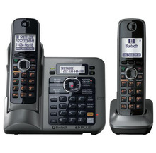 2 Handsets Digital Wireless Cordless Phone DECT 6.0 link-to-cell Bluetooth Cordless Telephone With Call ID Answering system(China)