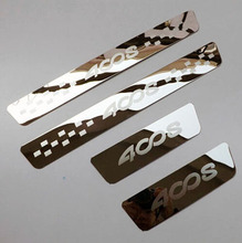 For Car Styling Peugeot 4008 2011 2012 2013 2014  Stainless Steel Silm Scuff Plate Door Sill Car Stickers Accessories