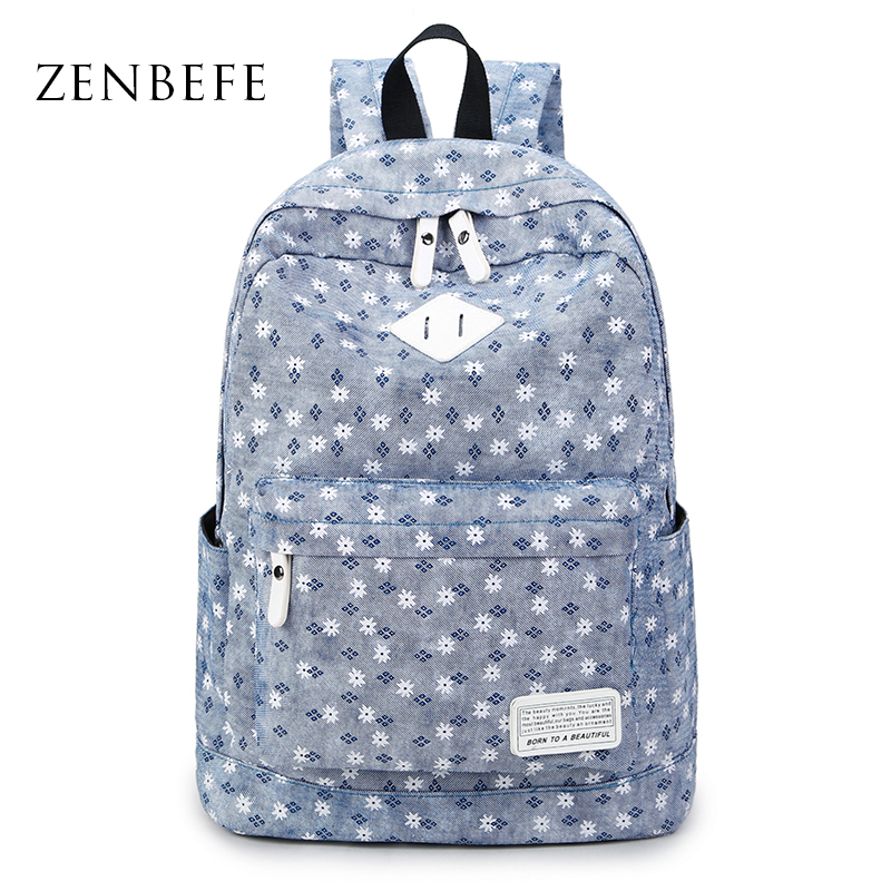 ZENBEFE Flora Printing Backpack Capacity WomenS Backpack Durable School Bag For Teenage Girls Mochila Daypacks Travel Bag<br><br>Aliexpress