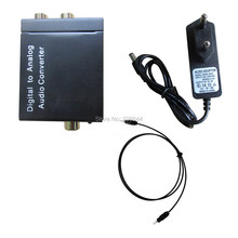Optical Coaxial Toslink Digital to Analog Audio Converter Adapter RCA L/R with Spdif cable