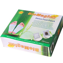 Hot selling Healthy high quality detox foot patch aids natural cleansing (1color box=10pcs pad+10pcs sticker)absorbs impuritles(China)